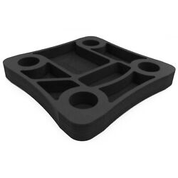 Floating Pool Drink Holder Table Party Tray Durable Black Foam 10 Compartments