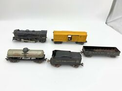 Marx 999 O Scale Locomotive Vintage Die Cast Train And Wagons Collectible Toys