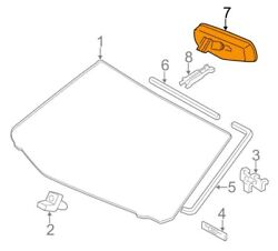 For Toyota Genuine Interior Rear View Mirror Front 8781007042