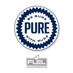 Pure Oil Company Premium Vinyl Decal - Made In The Usa - Vintage Oil Logo