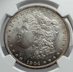 1904 United States Of America Silver Morgan Us Dollar Coin Eagle Ngc Ms I80037