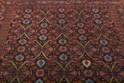 Pre-1900 Antique All-over Navy Blue Dorokhsh Oriental Area Rug Hand-made 8x11