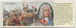 King George Ii Indian Artillery At Plassey Britain History 1930s Ad Card