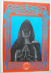 1967 2 sided Poster: Psychedelic Art ShowLove PJ Proby Moby Grape Winterland