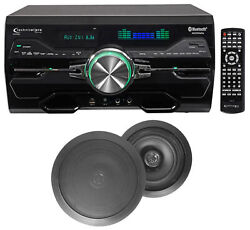 Dv4000 4000w Home Theater Dvd Receiver+2 6.5 Black Ceiling Speakers