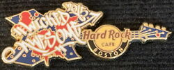 Hard Rock Cafe BOSTON 2015 # Wicked Awesome GUITAR PIN LE 300 HRC #83641