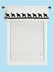 Black Russian Terrier Dog WIndow Valance or Shower Curtain color choices