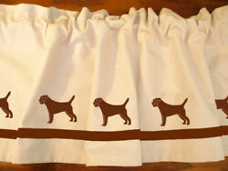 Border Terrier Dog WIndow Valance or Shower Curtain color choices
