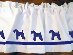 Kerry Blue Terrier Dog WIndow Valance or Shower Curtain Color choices