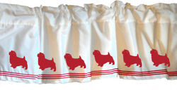 Norfolk Terrier Dog WIndow Valance or Shower Curtain Color choices
