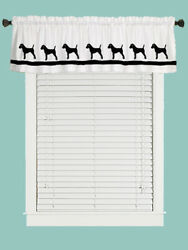Parson Russell Terrier Dog WIndow Valance or Shower Curtain Cropped or uncropped