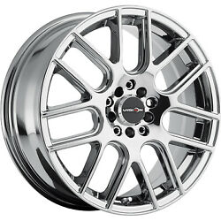 4 - 15x6.5 Chrome Wheel Vision Cross 5x4.25 5x4.5 38