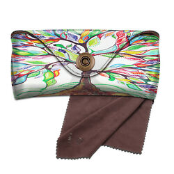 Sunglasses Case Portable Vegan Leather Glasses Carrying Case Eyewear Pouch