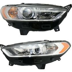 Headlight For 2013-2016 Ford Fusion Pair Driver And Passenger Side Capa