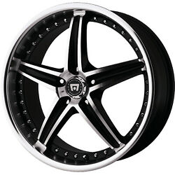4 - 16x7 Black Motegi MR107 Wheel 5x4.5 (5x114.3) +45 Offset MR10767012345