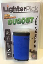 New BLUE LIGHTERPICK Tobacco Dugout Smoking System Water Tight amp; Smell Proof $17.99