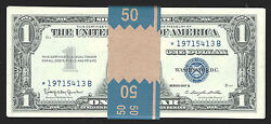 1957b Star1 Silver Cer-50 Pcs Con Gem-serial Starts With 1