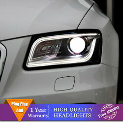 For Audi Q5 Headlights Single Lens Beam Projector HID LED DRL 2009-2018