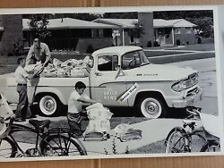 12 By 18 Black And White Picture Of 1960 Dodge Pickup Truck 100 The Daily News