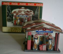 Coca Cola Town Square Howard Oil Gas Service Station Christmas Village Building