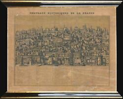 1840 Basset Comparative Chart Of The Chateaux Of France