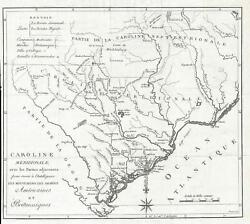1787 Picquet Map Of South Carolina During The American Revolution