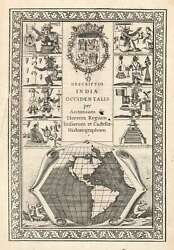 1622 Colijn Map Of America - First Map To Show California As An Island