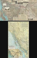 1927 Canadian National Railway Map Of The Canadian Rockies