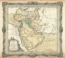 1766 Desnos And De La Tour Map Of The Middle East And Arabia
