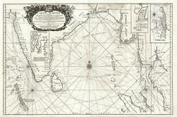 1742 Nolin Map Of The Bay Of Bengal Siam Thailand And India