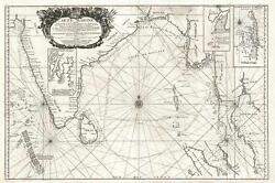 1742 Nolin Map Of The Bay Of Bengal, Siam Thailand, And India