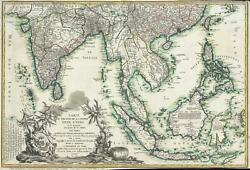 1781 Denis Map Of The East Indies Revolutionary War Interest