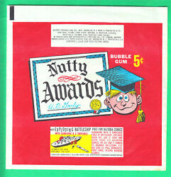1964 Topps Nutty Awards 5 C Wax Wrapper Nm