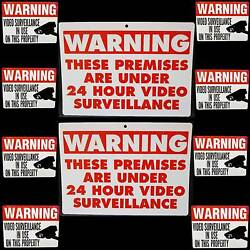 Home Store Video Surveillance Security Camera Alarm System Signs+window Stickers