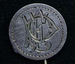 Love Token Stick Pin Engraved Pe Ep On Canada Canadian Dime 10c Ten Cent Silver