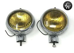 General Electric 6 Amber Fog Light Assembly Set - Vintage Chevrolet