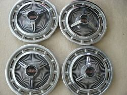 1965-66 Chevy Ss Spinner Hubcaps 14 Set Of 4 Very Nice. One Dent