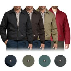 Menand039s Tj15 Insulated Lined Quilted Eisenhower Zip Up Work Jacket