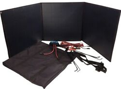 150 Watt Lightweight 7 Lb Folding Briefcase Solar Panel W Carry Case And Cables