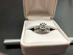 Antique Wedding Ring White Gold 10 Total Diamonds Great Color And Clarity