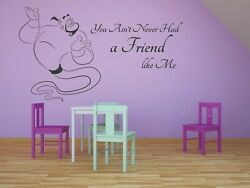 Aladdin Genie Wish Quotes Disney Movie Wall Decals For Rooms Walls Stickers