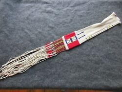 Native American Quilled And Beaded Pipe Bag 43 Double Sided Chanupa Bag Sd-03711