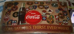 Rare Coca-cola Wwii Or Korea Armed Forces Shoulder Patch Poster