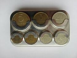 Ussr Coin Holder Collecting Box Storage Capsules Holder Metal Case Vyborg + Ussr