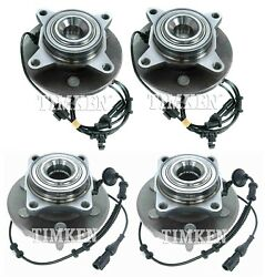 Front And Rear Wheel Bearings And Hubs Kit Timken For Expedition Navigator Rwd 03-06