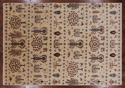 Hand Knotted Gabbeh Rug 6and039 6 X 9and039 4 - Q3125