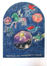 MARC CHAGALL  Tribe of Shimeon  Original Signed No. Lithograph 1960's