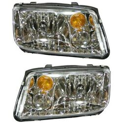 Headlights Headlamps Left And Right Pair Set New For 02-06 Vw Jetta