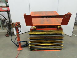 4000lb Pneumatic Scissor Lift And 30° Tilt Table 50x50 Top 14-1/2 To 38 Height