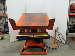 4000lb Pneumatic Scissor Lift And 30° Tilt Table 56x50 Top 15-1/2 To 38 Heigh